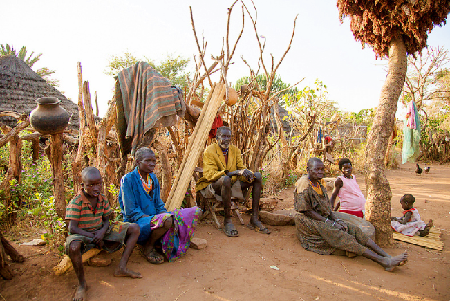Karamojong man and wives